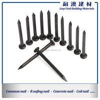 Black Concrete Nails With Smooth Shank,Black Cement Steel Nails