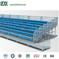 Cheap high quality plastic plank hot galvanized elevated fixed stand seats