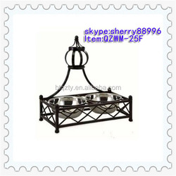 best quality wholesale custom steel dog bowl with iron stand