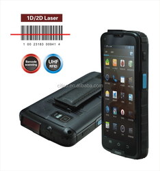 high quality 5 inch rugged android barcode scanner phone with wifi, 3g, gps and camera, IP65, 4000mAh battery