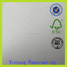 security paper with UV fibers / certificate printing paper