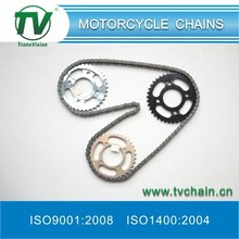 Good quality Motorcycle chain and Sprocket set / kit at reasonable price