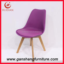 Comfortable colorful PU chair plastic resturant chair