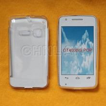 Hot selling clear soft tpu mobile phone case for alcatel one touch s pop/4030