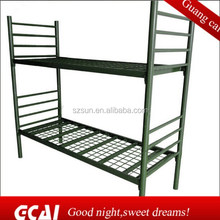 Commercial design green wire mesh detachable metal frame convertable bunk bed