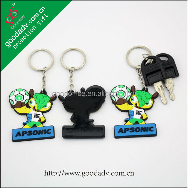 Guangzhou Factory cheaper promotion gifts-3D soft pvc keychain