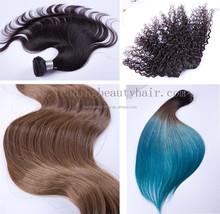 Wholesale natural wave unprocessed brazilian virgin remy human hair weft/hair weaving