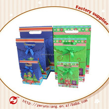 High quality wedding/party 3d glitter gift craft paper tote bag