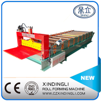 3 year warranty color steel high quality metal sheet rolling steel roof cold roll forming machine