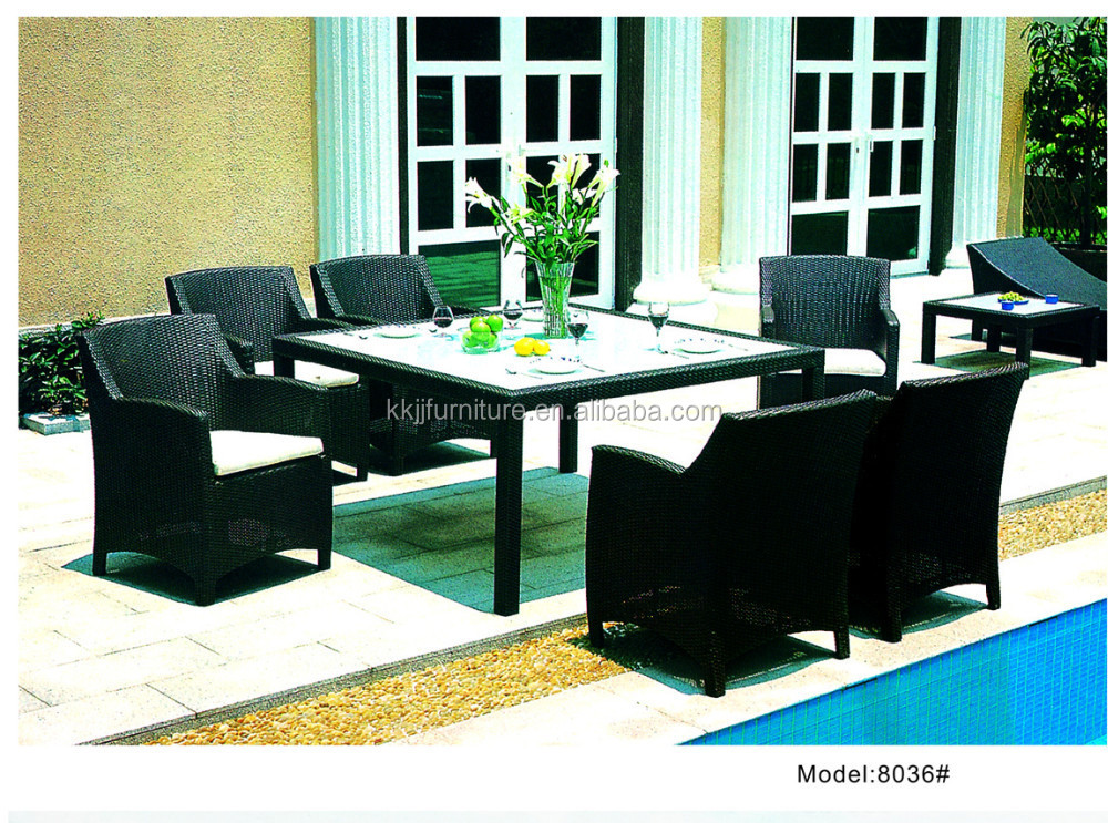 Wicker Garden Used Rattan Synthetic Outdoor Furniture