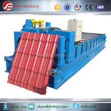 whole set Colored Steel plate/galvanized board glazed roof tile roll forming machine & metal Sheet roof roll forming machine