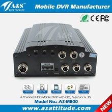 4 channel car dvr system support 4 cameras can be