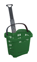 rolling plastic basket with casters