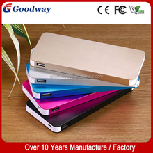 Big capacity Thin metal power bank 12000mah for iPad