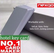 NEXQO magnetic stripe/ RFID hotel key card suitable with KABA locking system