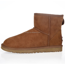 JLX2015 new design, winter Australian sheepskin wool-one simple ankle fashion brown snow boots boots factory provide
