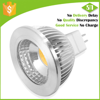 high quality LED lamp MR16 GU5.3 5W 3000K dimmable