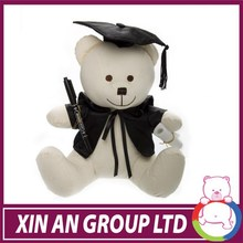 CE certificated plush stuffed animal hot sale graduation panda teddy bear