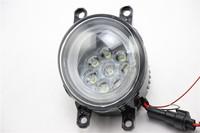 LED Fog Light with LED Daytime Running Light for Toyota Alphard Special LED Foglight With Angel Eyes car driving lights