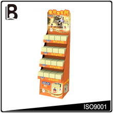 Top sale 4 tiers cardboard department store display racks