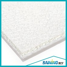clear hard waterproof polycarbonate embossed panel