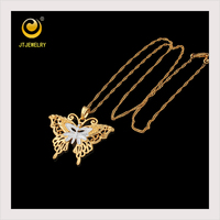 2015 good quality new butterfly shape Yellow Gold Pendant