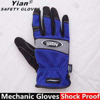 Mechanics Gloves,Mens Synthetic Leather hand palm gloves