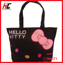 Hello Kitty max fashion canvas tote shopping bag ,shoulder bag with iphone case