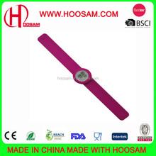 Silicone digital slap watch/Fashion silicone slap bracelet watch