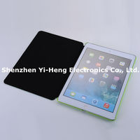 2014 new Luxury Business Genuine Leather Case for iPad 2 3 4 Ultrathin 3 Foldable Stand Real Leather Smart Cover for iPad