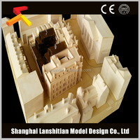 wood material architectural design interior house model