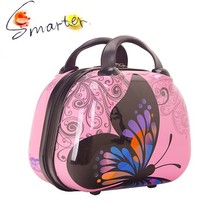 """8"""" Promotional ABS + PC Plastic Travel Cosmetic Bag With Mirror"""