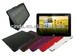 PU Leather Folio Case for Acer Iconia A510 / A700 10.1 Tablet