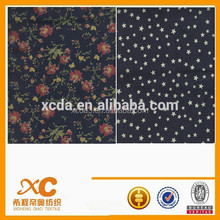 popular design carbon peach printed denim fabric