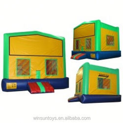 Commercial Inflatable Green and Yellow with Changeable Banner jumper,moonwalk,bouncer