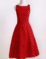 rockabilly ropa 50s vestidos mujer ropa fiesta swing pin-up 1950 vestido rojo a lunares dropshipping en tallas grandes plus