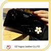 High Quality Fashion Women Lady leather travel wallet with flower