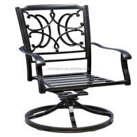 outdoor cast aluminium swivel chair