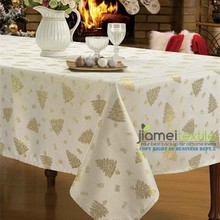 100% Polyester Lurex Thread Xmas Table Cloth