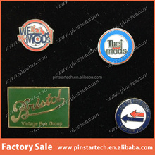 China factory wholesale custom new products decor promotional gift die struck fashion leaf metal lapel Pin Badge machinery
