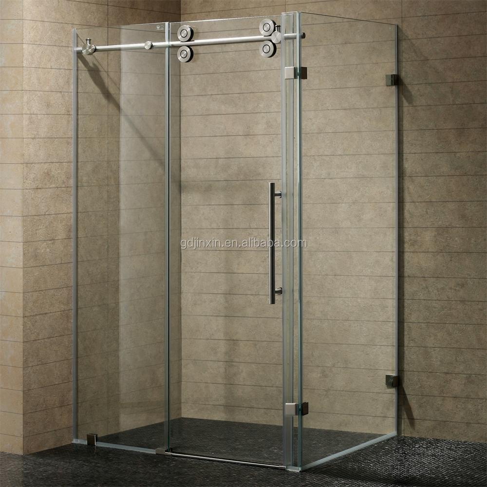 Stainless Steel Frameless Sliding Glass Door Tempered Glass Sliding