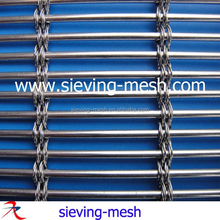 Solar shading stainless steel woven wire fabric, brass/cooper/ss elongated mesh
