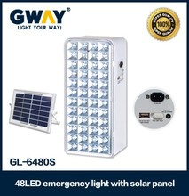 48 LED solar emergency lantern with rechargeable 6V,4AH battery,transforme charging
