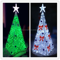 20ft Giant Outdoor Light Up LED Cone Christmas Trees