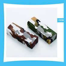 Hard PU Leather Optical Glasses Case with camouflage uniform design surface