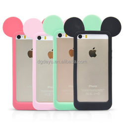 Mickey ear Silicone Bumper Frame Case for Mobile Phone Universal Case , silicon universal mobilephone frame