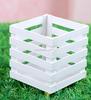 white square small wooden planter box