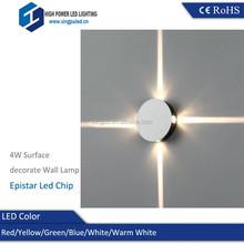 Best Sales 4W Wall Mount Led Light, Round led backlight 4W AC85-265V Home Decor Lights