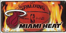 Miami Heat w / Flames matrícula