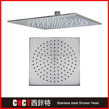 """24*31"""" square with 3 functions and 7 color LED Brush Surface 304 stainless steel LED butterfly shower head"""